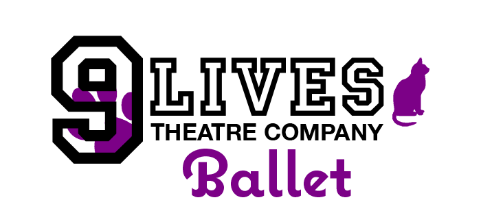 The Nine Lives Theatre Company Ballet dance logo