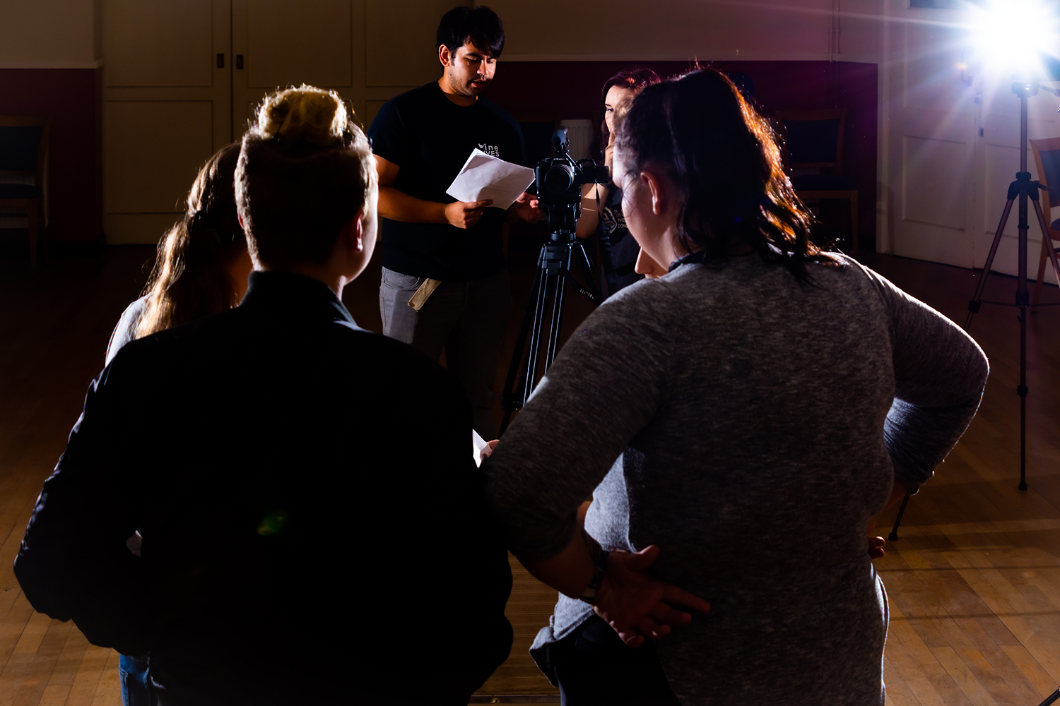 A filming session at Nine Lives Theatre Company.